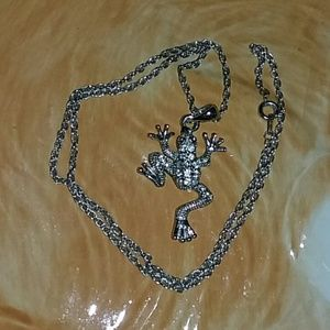CZ Frog Necklace